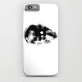 human eye from black dots iPhone Case