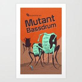 Hexinverter.net – Mutant Bassdrum Art Print