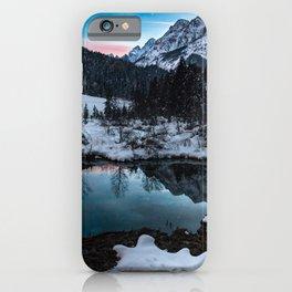 Zelenci springs at dusk iPhone Case