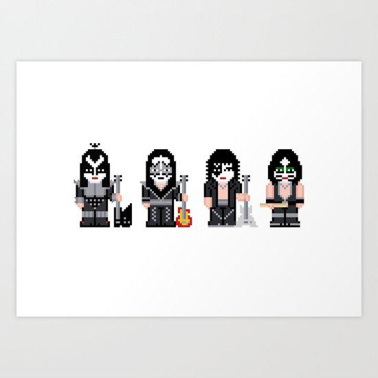 Pixel Kiss Art Print