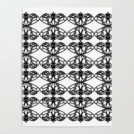 Luxury mandalas black on white Poster