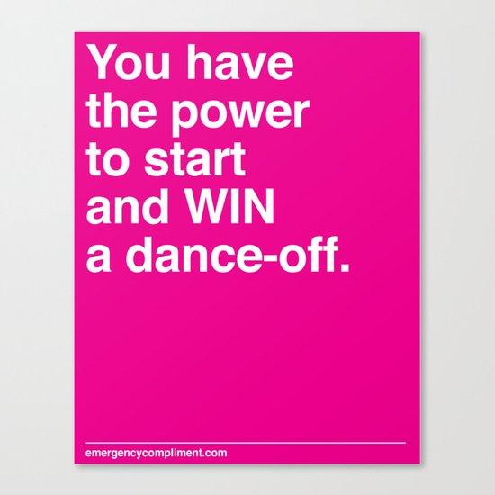 Dance Off Canvas Print