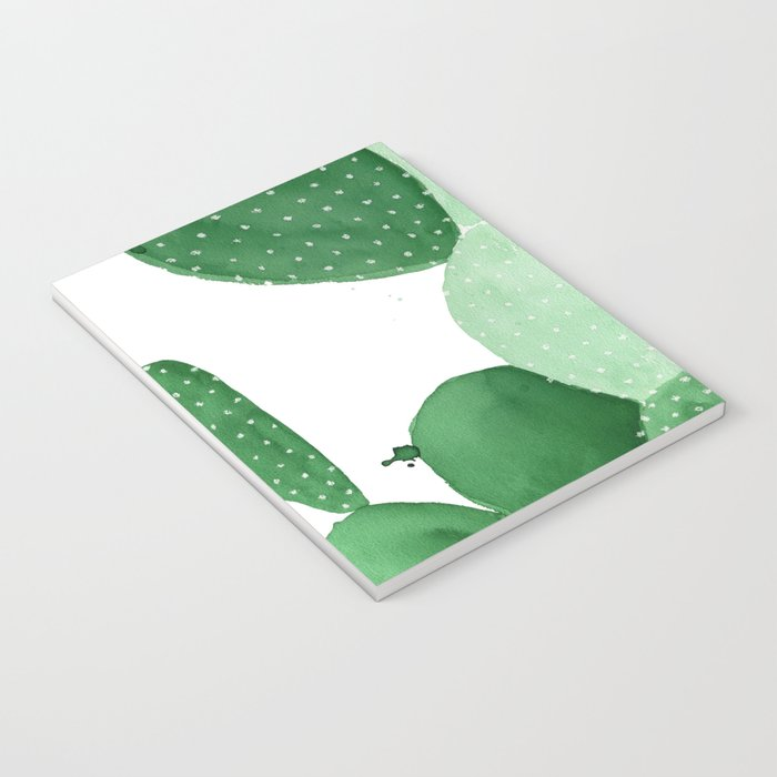 Green Paddle Cactus II Notebook