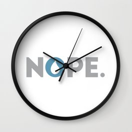 Nope Magic the Gathering Control Blue Player Wall Clock