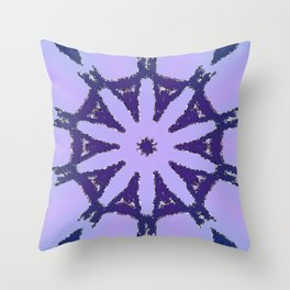 Cool Purple Abstract Throw Pillow