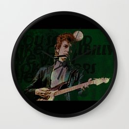 Dylan Goes Electric Wall Clock