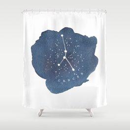 cancer constellation zodiac Shower Curtain