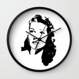 Rita Hayworth Is Class Wall Clock