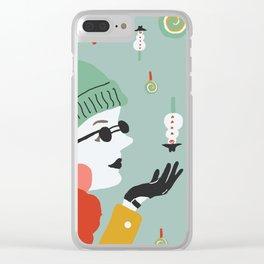 Bonbon de neige Clear iPhone Case