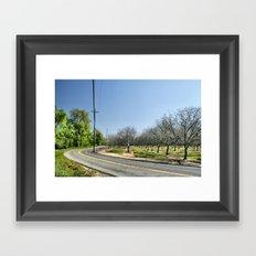 The Bend Framed Art Print