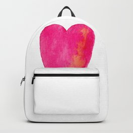 Pink Heart Full Of Love Watercolor Backpack