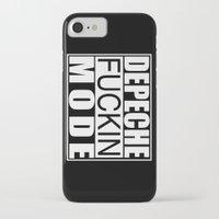 depeche mode iPhone & iPod Cases featuring DM : Depeche Fucking Mode by Luc Lambert