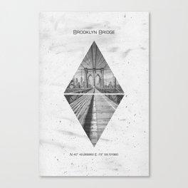 Coordinates NEW YORK CITY Brooklyn Bridge Canvas Print