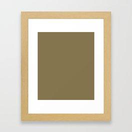 Gold Fusion - solid color Framed Art Print