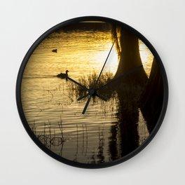 Sunset at Golden Pond Wall Clock