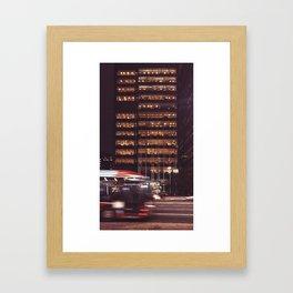 Light building Framed Art Print