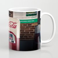 coca cola Mugs featuring Coca Cola by Bust it Away Photography