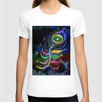 peacock feather T-shirts featuring Peacock Feather by SwanniePhotoArt
