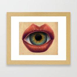 lwye Framed Art Print