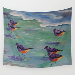 Dance of the Sandpipers Wall Tapestry