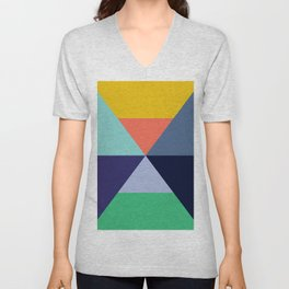 Colorful pattern XVII Unisex V-Neck