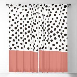 Polka dot red Blackout Curtain