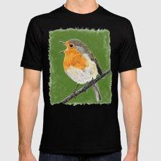 Robin 02 MEDIUM Mens Fitted Tee Black