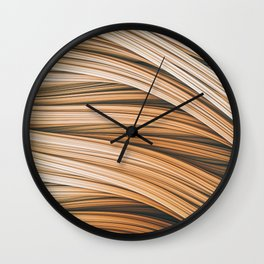 Beige Strands. Abstract Design Wall Clock