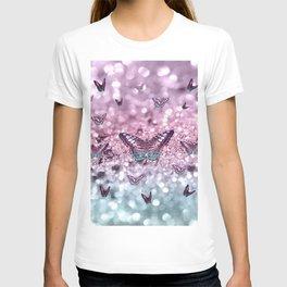 Pastel Unicorn Butterfly Glitter Dream #2 #shiny #decor #art #society6 T-shirt