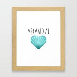 Mermaid At Heart  |  Teal Framed Art Print