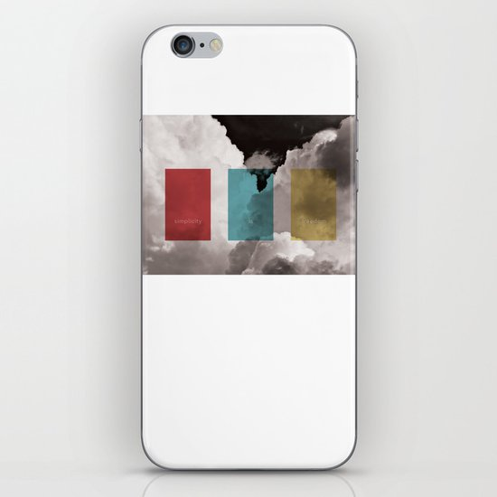 simplicity is freedom iPhone & iPod Skin