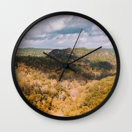 A Shadow Across the View, Red River Gorge, Kentucky Wall Clock