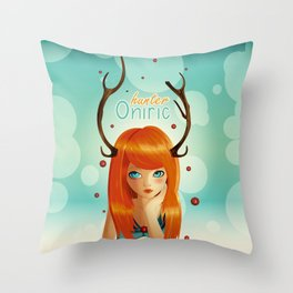 Oniric hunter Throw Pillow