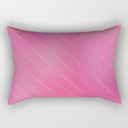 Pretty Pink Gold Dot Stripe Pattern Rectangular Pillow
