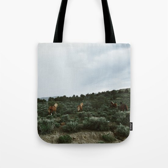 Nevada Horses Tote Bag