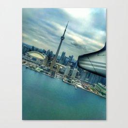 Toronto Skyline from Plane Canvas Print