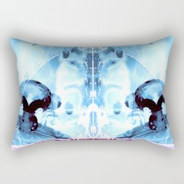 Blue Monkeys Rectangular Pillow