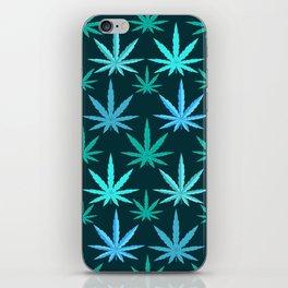 Marijuana Teal Weed iPhone Skin