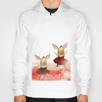 pigs Hoodies featuring Flying pigs by Annabellerockz