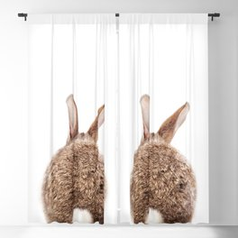 Bunny Tail, Brown Bunny Rabbit, Baby Animals Art Print By Synplus Blackout Curtain
