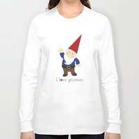 gnome Long Sleeve T-shirts featuring Gnome Love by Ink Tree Press by Erin Rippy