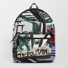 Paris Metro Sketch Chatelet Backpack