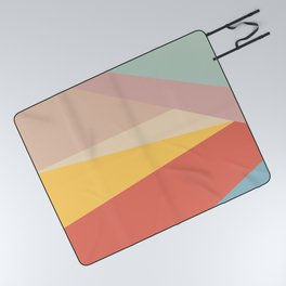 Retro Abstract Geometric Picnic Blanket