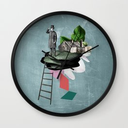 Surreal Collage Wall Clock