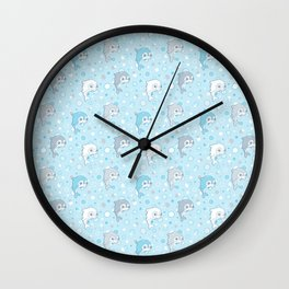 Dolphins and Bubbles Wall Clock
