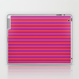 Even Horizontal Stripes, Red and Purple, S Laptop & iPad Skin