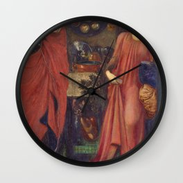 Edward Burne-Jones  - Fair Rosamund and Queen Eleanor - Digital Remastered Edition Wall Clock