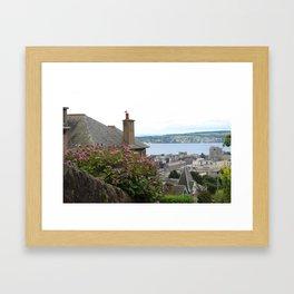 House on a Hilltop Framed Art Print