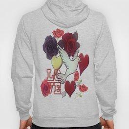 LOVE Vintage Pattern Hoody