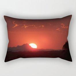 Sunset over Tucson Mountains #1, Arizona Rectangular Pillow